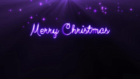 Merry Christmas and a happy new year 4k loop purple CG動画素材