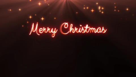 Merry Christmas and a happy new year 4k loop red CG動画素材