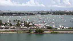 USA Florida Miami Highway McArthur Causeway at Main Channel Archivo