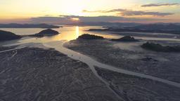 Sunset on the mud Flat Footage