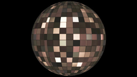 Twinkling Hi-Tech Squares Spinning Globe, Brown, Events, Alpha Matte, Loopable, Animation