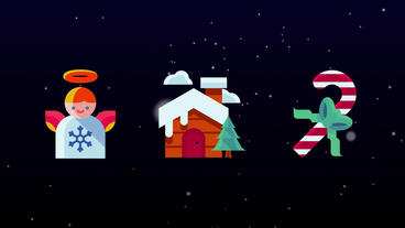 Christmas Icons pack Plantilla de After Effects