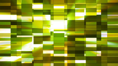 Twinkling Horizontal Small Squared Hi-Tech Bars, Green, Abstract, Loopable, 4K Animation