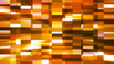 Twinkling Horizontal Small Squared Hi-Tech Bars, Orange, Abstract, Loopable, 4K Animation