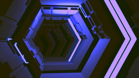 VJ Loop Space Corridor CG動画素材