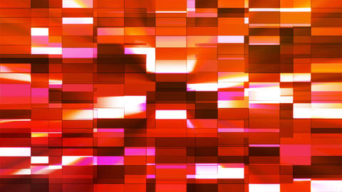 Twinkling Horizontal Small Squared Hi-Tech Bars, Red, Abstract, Loopable, 4K Animation