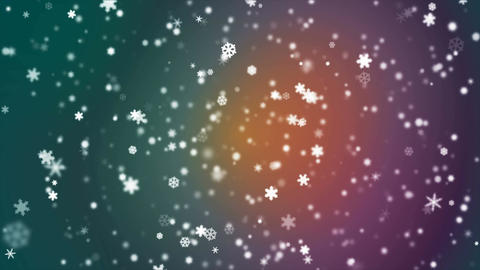 Broadcast Snow Flakes, Multi Color, Events, Loopable, 4K Animation