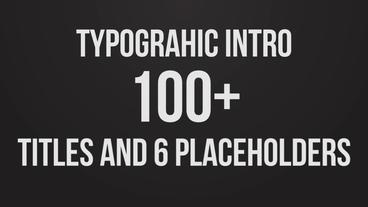 Stomp Typographic Intro Premiere Proテンプレート