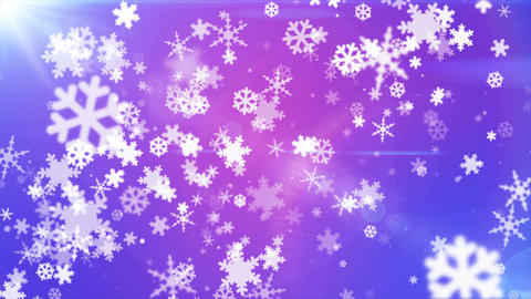 Broadcast Snow Flakes, Purple Blue, Events, Loopable, 4K Animation