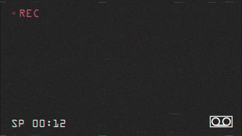 VHS Record Screen Stock Video Footage