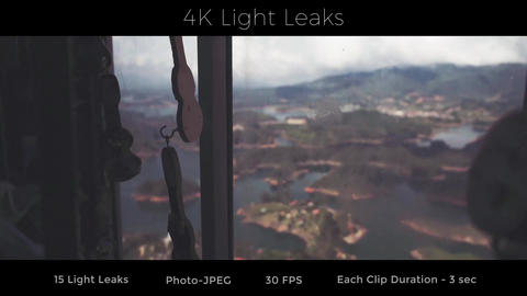 4K Light Leaks Stock Video Footage