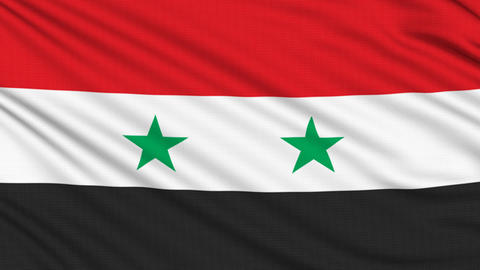 Syrian Flag, with real structure of a fabric Animation