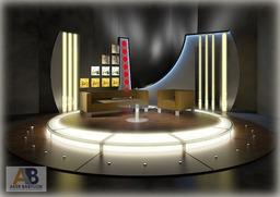 Tv Chat Program 019 3D Modell