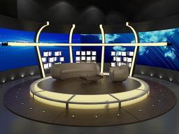 Tv Chat Program 020 3D Model