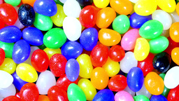 Colorful jellybean Easter background Footage