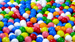 Colorful rotating gumballs Footage