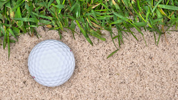 Golf ball in sand trap Footage