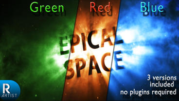 Epical Space (3 version included) After Effects Template