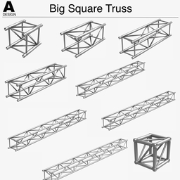 Big Square Truss 007 3Dモデル