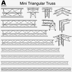 Mini Triangular Truss 009 3D Model