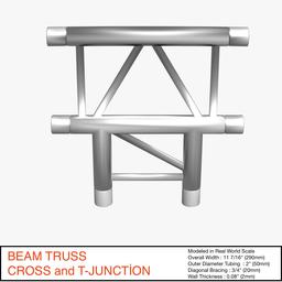 Beam Truss Cross and T Junction 134 3D Model
