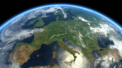 Europe from space. Earth From Space Animation
