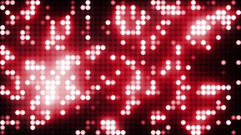 Red led animated VJ background Animation