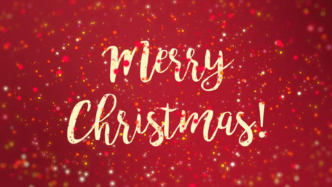 Sparkly red Merry Christmas greeting card video Animation