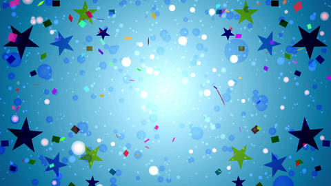 Dot and star background material CG動画