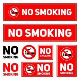No Smoking labels set on a white background isolated vector illustration eps10 Vector