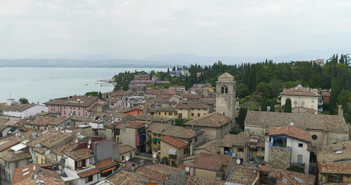 Sirmione Aerial View Footage