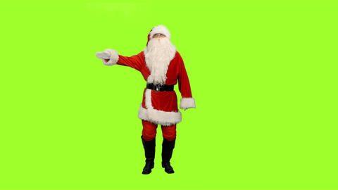 Santa Claus On Green Background 1