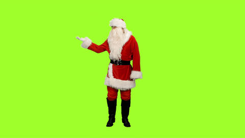 Santa Claus On Green Background 2