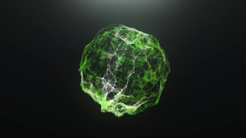 Green abstract ball virus of plexus CG動画