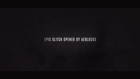Glitch Title Sequences by AEBlocks After Effects Template