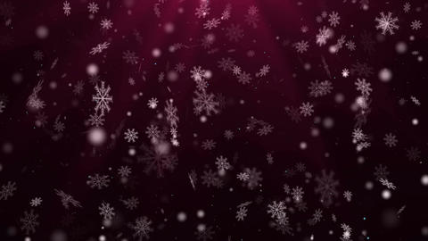 Snowflakes background. Loop CG動画素材