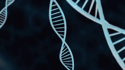 DNA helix in close up CG動画素材