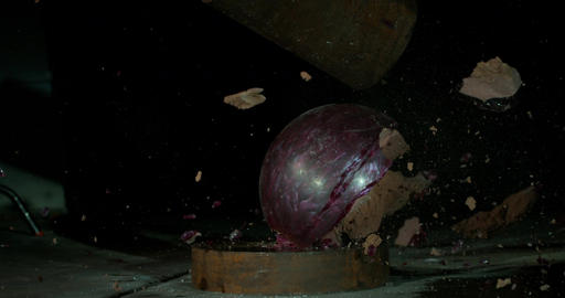 Bowling Ball Splits Apart Under Pressure Footage