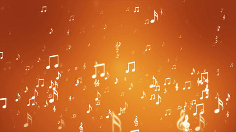 Broadcast Rising Music Notes, Golden, Events, Loopable, 4K Animation