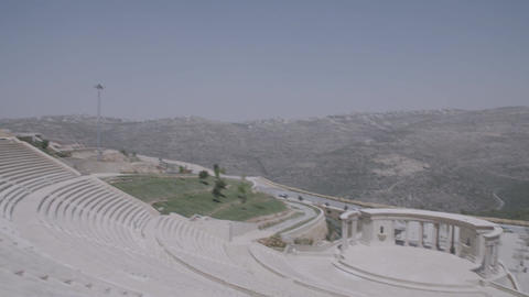 Panning shot of empty amphitheater Footage