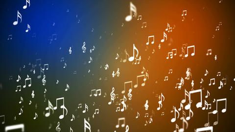 Broadcast Rising Music Notes, Multi Color, Events, Loopable, 4K Animation