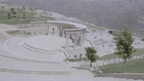 Beautiful shot of white classical amphitheater Footage