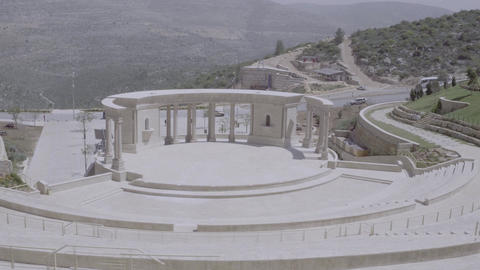 Circling shot of classical amphitheater Footage