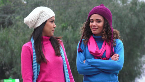 Girls Happiness And Friendship Cold Weather Live Action