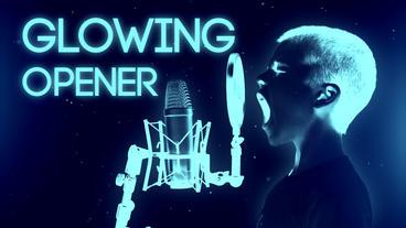 Glowing Opener Premiere Pro Template