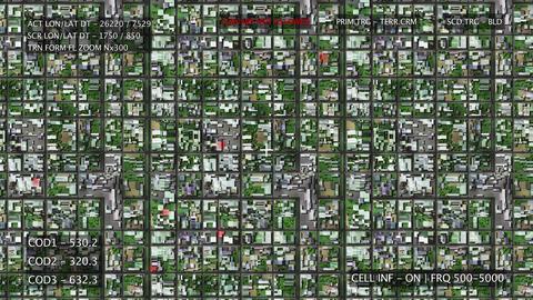 4K Satelite Surveillance in Suburban Area 1 Animation