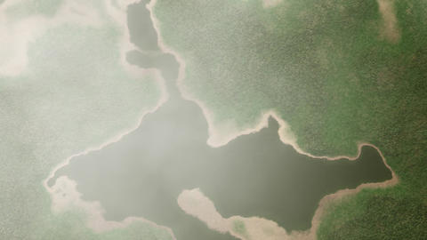 4K Satellite View of Cloudy Wild Nature Area 1 Animation
