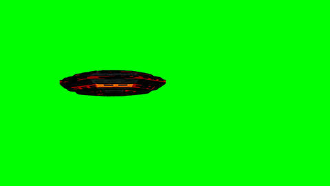 UFO Getting Closer to Camera Greenscreen Animation