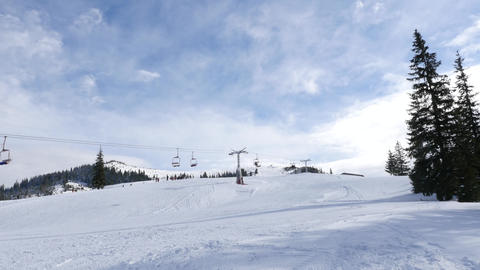 Ski Trail, Chairlift Live Action