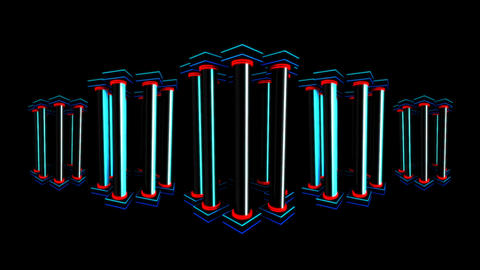 VJ Columns Animation